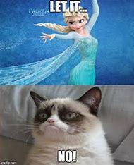 Grumpy Cat Meme Frozen
