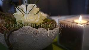 Betonschale Selber Machen : betonschale mit blumen dekoriert basteln und dekorieren ~ Lizthompson.info Haus und Dekorationen