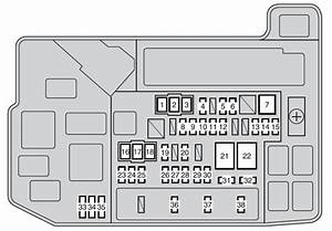 Toyota Auris Hybrid Mk1  2011 - 2012  - Fuse Box Diagram