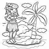 Hula Coloring Hawaiian Dancer Vector Island Clip Illustration Clipart Dancing Hawaii Aloha Cartoon Gograph Dreamstime Drawing Tiki Royalty Dance Depositphotos sketch template
