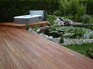 terrasse holz verlegen projekt holz terrasse With französischer balkon mit brunnen im garten kosten