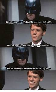 Commissioner Gordon's Daughter Was Raped Last Night Well ...