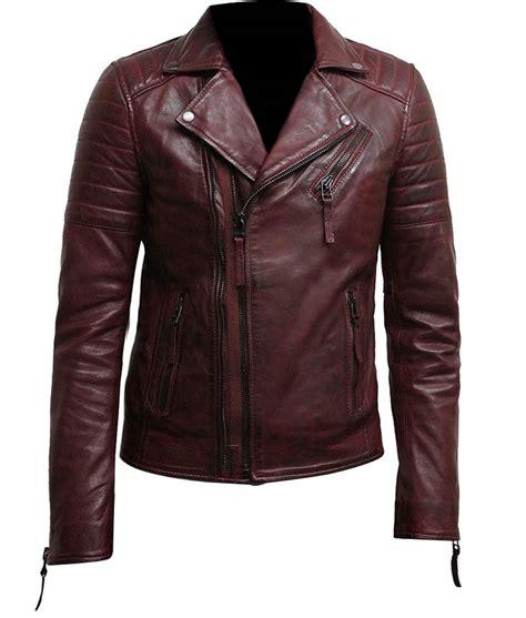 zip up biker jacket mens zip up burgundy bikers leather jacket usa jacket