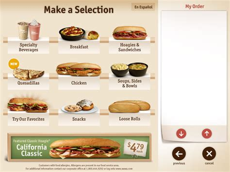 wawa food menu | Food