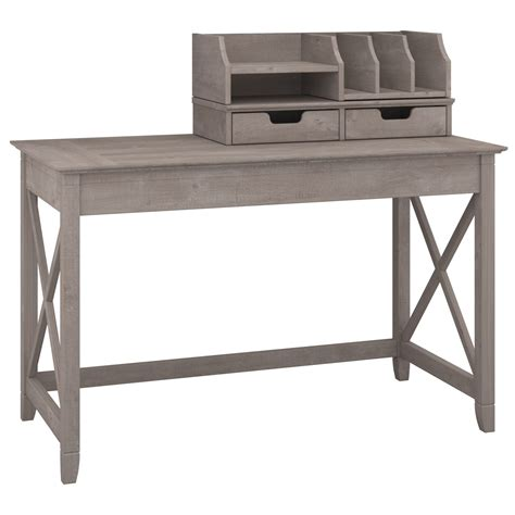 gray writing desk key west washed gray 48 quot writing desk with desktop