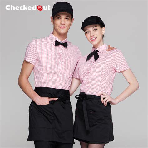 long sleeve asian design hotel bar waiter waitress uniform