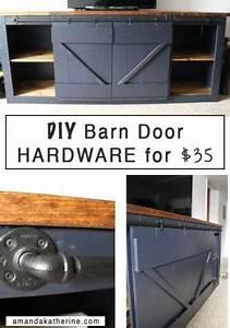 diy barn door hardware by amy claire barn or pocket With 40 dollar barn door