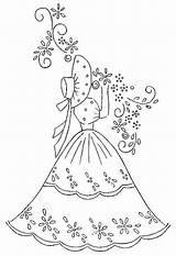 Embroidery Southern Lady Belle Sue Patterns Sunbonnet Quilt Crinoline Designs Pattern Crochet sketch template