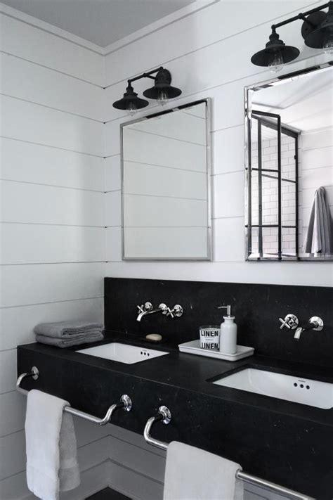 black  white country bathroom hgtv