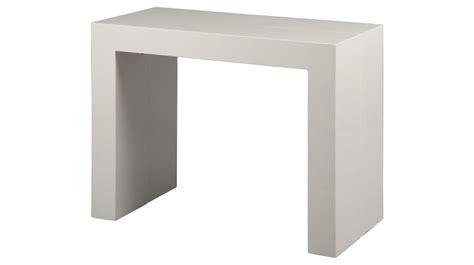 clic clac canape console extensible blanc laqué 3 allonges console design