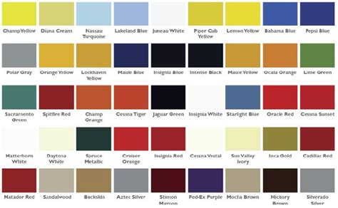 boeing paint color chart reference chart