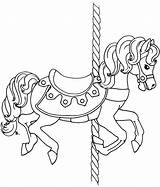 Carousel Horse Coloring Printable Pages Animals Rug Horses Circus Drawing Sheets Christmas Template Templates Colouring Carousels Beccy Birthday Place Adult sketch template