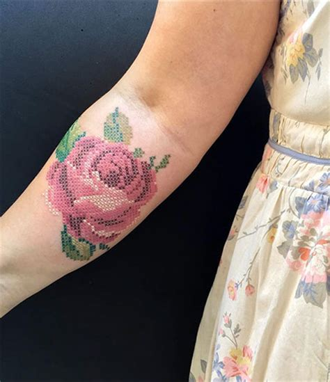 cross stitch tattoos