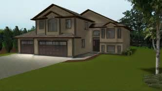 bi level house floor plans 3 car garage on house plans by e designs 2