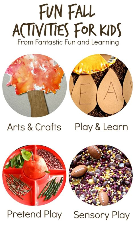 roll and say fall abc with printable fantastic 813 | Fun Fall Activities for Kids from Fantastic Fun and LearningOver 25 creative play activities for fall