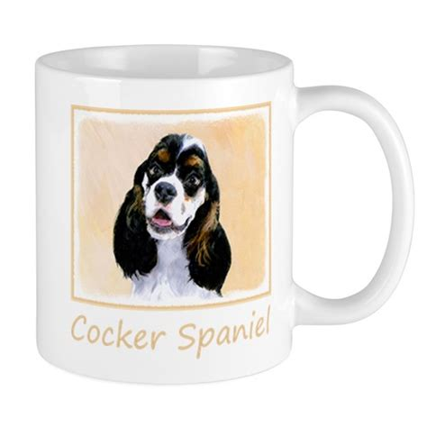 Ida is a 1yr old female red cocker spaniel weighing about 22lbs. Cocker Spaniel (Parti-Colored) 11 oz Ceramic Mug by alpendesigns - CafePress