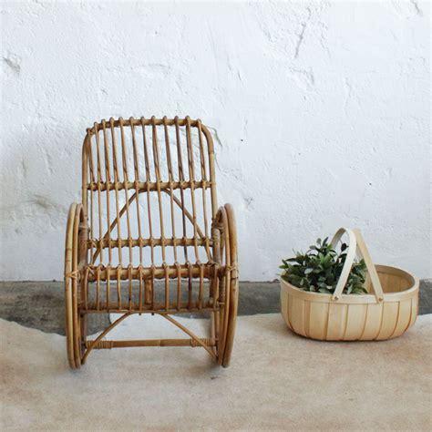 rocking chair en rotin rocking chair ancien en rotin pour enfant atelier du