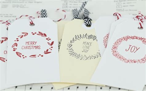 make your own christmas gift tags into craft