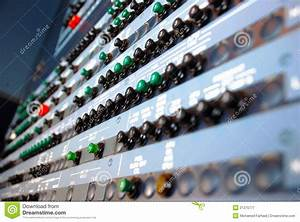 Aircraft Circuit Breakers Panel Stock Image