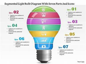 0814 Business Consulting Segmented Light Bulb Diagram With