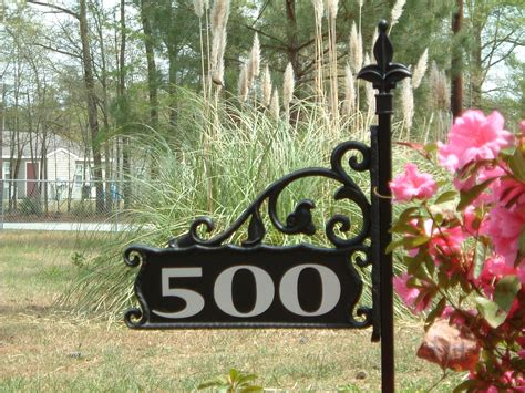 lawn address signs homesfeed