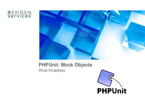 Mock Objects In Phpunit
