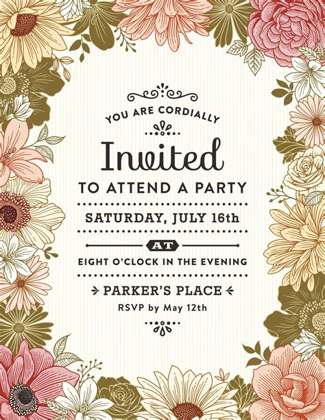 write  party invitation