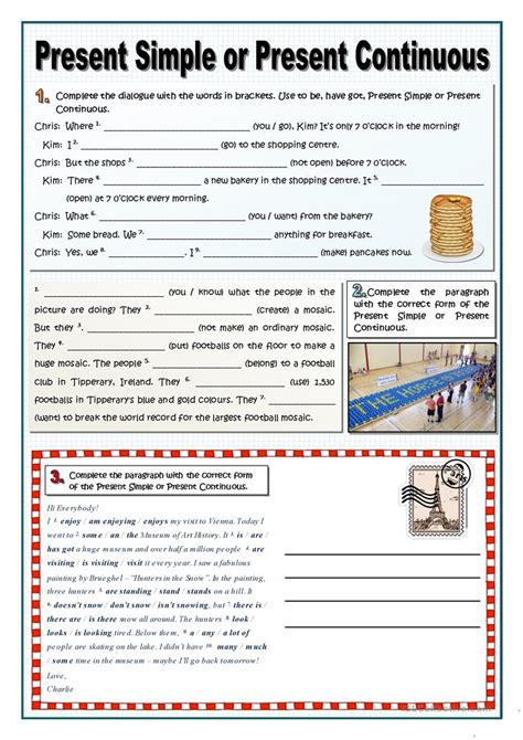 Present Simple Or Continuous Worksheet  Free Esl Printable Worksheets Made By Teachers