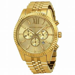 Michael Kors Women's Lexington Gold-Tone Watch MK5556 ...
