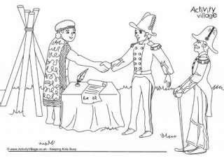 waitangi day colouring pages