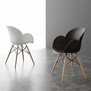 Chaise Moderne Design : chaise moderne avec pieds en bois nora ~ Teatrodelosmanantiales.com Idées de Décoration