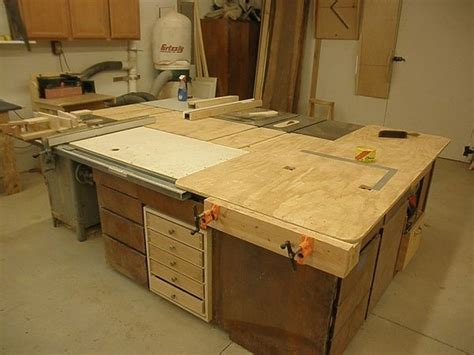 table  outfeed table woodworking talk woodworkers