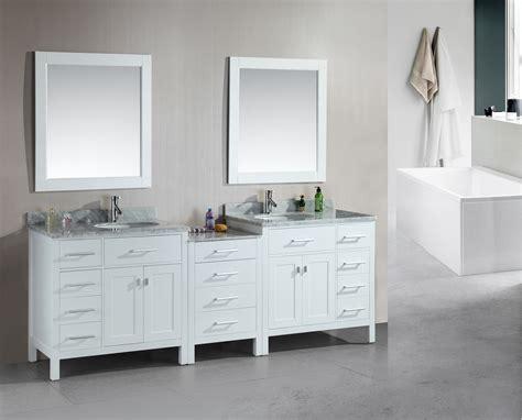 Adorna 92 Inch Transitional Double Sink Bathroom Vanity