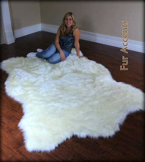 Imitation Rugs by Fur Accents Plush Polar Area Rug Faux Fur Skin