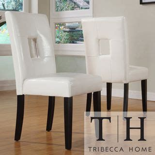 Tribecca Home Mendoza Keyhole Dining Chairs by Dining Chair Set Mendoza And Dining Chairs On