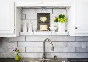 10 subway white marble backsplash tile idea backsplash com