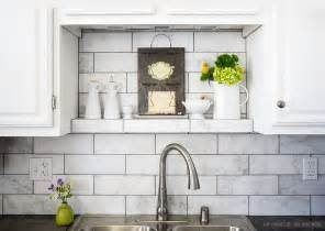 marble tile kitchen backsplash 10 subway white marble backsplash tile idea