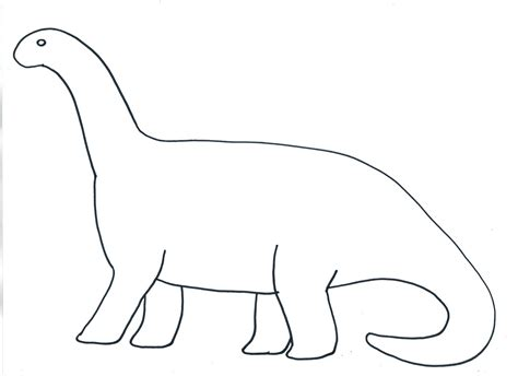 Dinosaur Template Template Simple Dinosaur Template