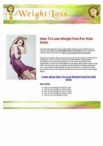How Can Kids Lose Weight Fast