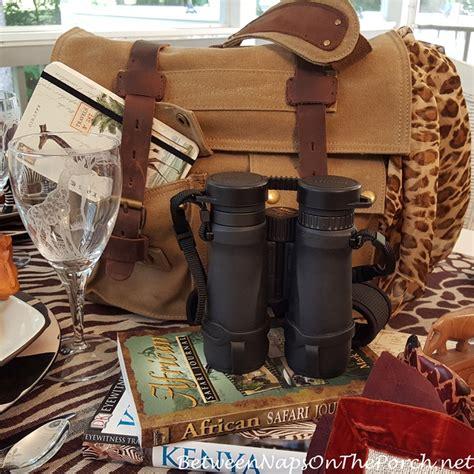 african safari themed table setting