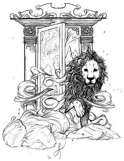 Aslan-Come-Out-From-Narnia-Chronicles-of-Narnia-Coloring