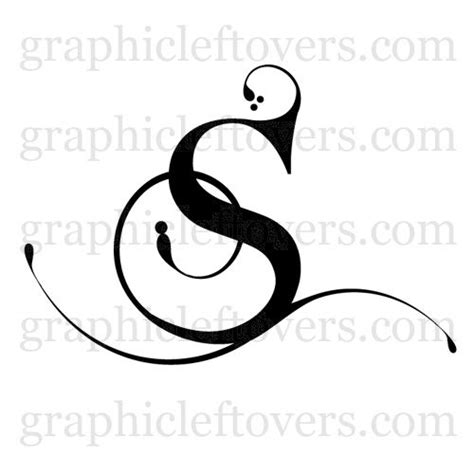 tatuaggi lettere s s initials monograms names letter s