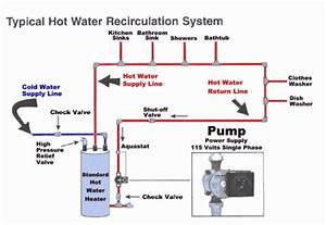 Hot Water Circulator Typical Installation