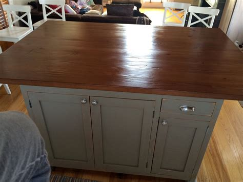 Barn Wood Kitchen Island   ECustomFinishes