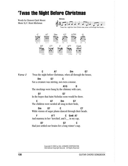Download 'twas The Night Before Christmas Sheet Music By