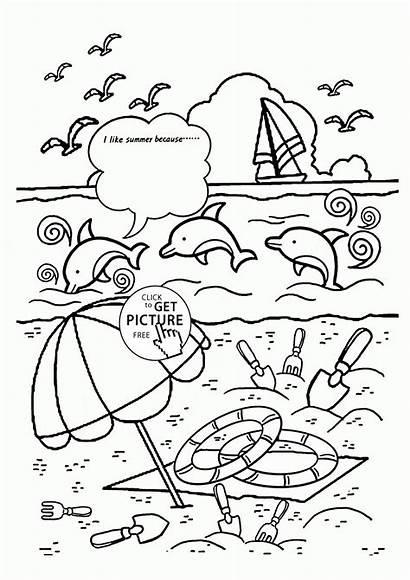 Coloring Summer Pages Preschool Seasons Popular