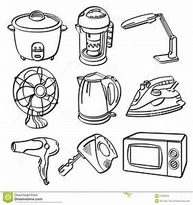 kitchen appliances coloring pages coloring pages With house electricals
