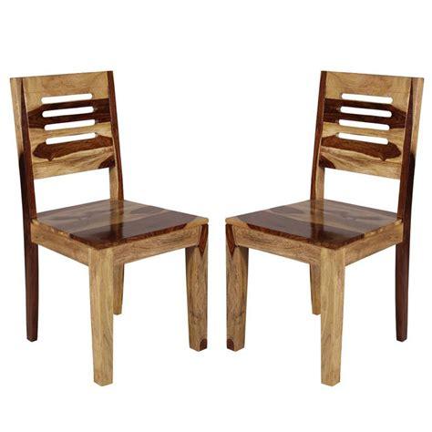 set of 2 sheesham wood dining chair in brown buy set of
