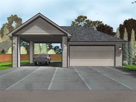 Motorhome Carport Plans by Garage Plans With Carport 2 Car Garage Plan With Carport