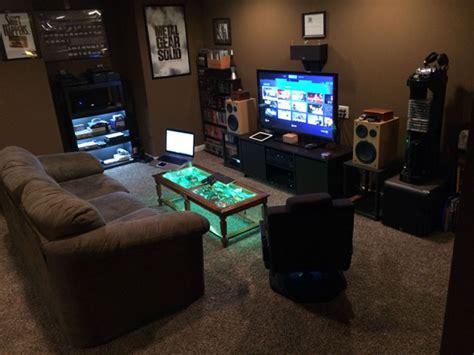 dark gaming room decoration homemydesign
